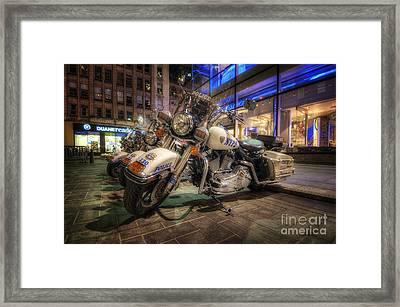 Nypd Bikes Framed Print by Yhun Suarez