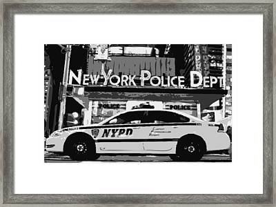 Nypd Bw8 Framed Print by Scott Kelley