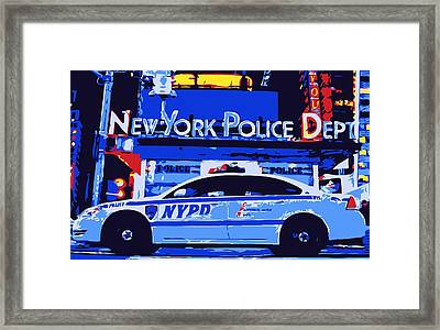 Nypd Color 6 Framed Print by Scott Kelley