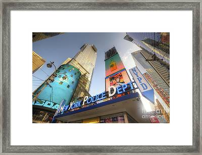 Nypd Station Framed Print by Yhun Suarez