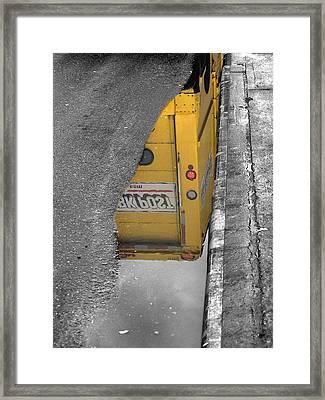 Nypost Reflection Framed Print by Bennie Reynolds