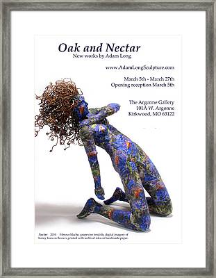 Oak And Nectar Exhibition Poster Framed Print