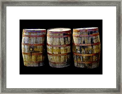 Oak Barrel Edge Definition Framed Print