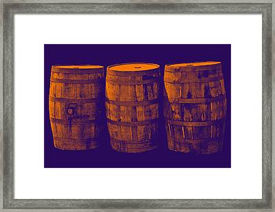 Oak Barrel Gradient Framed Print