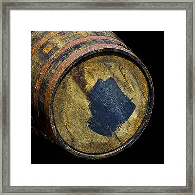 Oak Barrel Marked Framed Print