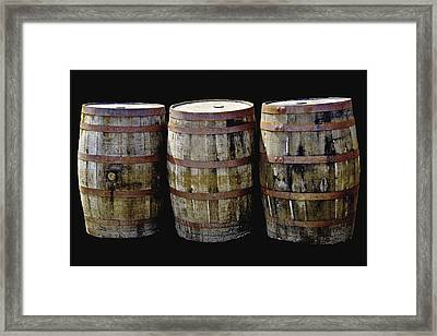 Oak Barrel Old Style Framed Print