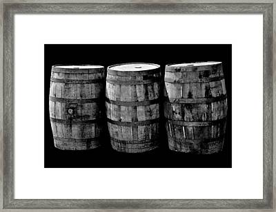 Oak Barrel Red Filter Framed Print