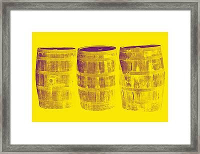 Oak Barrel Yellow Gradient Framed Print