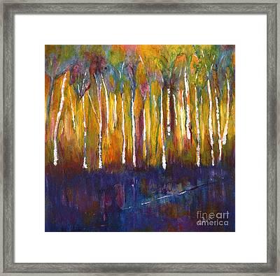 Oak Bay Woods Framed Print