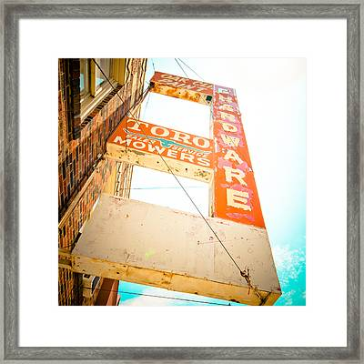 Oak Cliff Paint And Hardware Framed Print