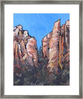 Oak Creek Canyon Framed Print by Sandy Tracey