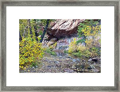 Oak Creek Canyon Wall Framed Print by Brian Lambert