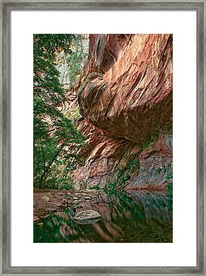 Oak Creek Canyon Walls Framed Print by Dave Dilli
