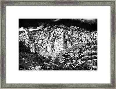 Oak Creek Mountain Framed Print by John Rizzuto