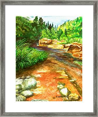 Oak Creek Red Framed Print
