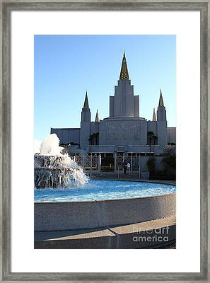 Oakland California Temple . The Church Of Jesus Christ Of Latter-day Saints . 7d11316 Framed Print by Wingsdomain Art and Photography