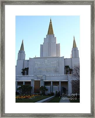 Oakland California Temple . The Church Of Jesus Christ Of Latter-day Saints . 7d11327 Framed Print by Wingsdomain Art and Photography