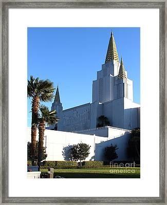 Oakland California Temple . The Church Of Jesus Christ Of Latter-day Saints . 7d11329 Framed Print by Wingsdomain Art and Photography