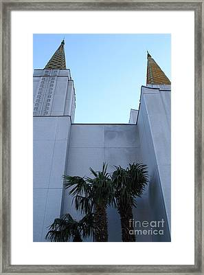 Oakland California Temple . The Church Of Jesus Christ Of Latter-day Saints . 7d11331 Framed Print by Wingsdomain Art and Photography