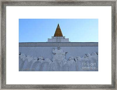 Oakland California Temple . The Church Of Jesus Christ Of Latter-day Saints . 7d11334 Framed Print by Wingsdomain Art and Photography
