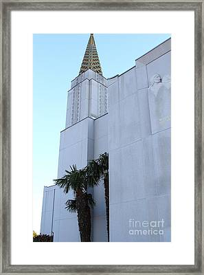 Oakland California Temple . The Church Of Jesus Christ Of Latter-day Saints . 7d11335 Framed Print by Wingsdomain Art and Photography