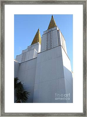 Oakland California Temple . The Church Of Jesus Christ Of Latter-day Saints . 7d11336 Framed Print by Wingsdomain Art and Photography