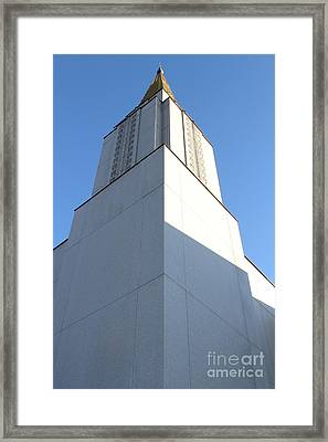 Oakland California Temple . The Church Of Jesus Christ Of Latter-day Saints . 7d11337 Framed Print by Wingsdomain Art and Photography