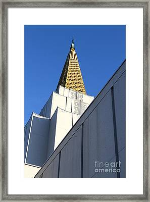 Oakland California Temple . The Church Of Jesus Christ Of Latter-day Saints . 7d11338 Framed Print by Wingsdomain Art and Photography