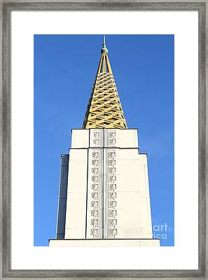 Oakland California Temple . The Church Of Jesus Christ Of Latter-day Saints . 7d11339 Framed Print by Wingsdomain Art and Photography