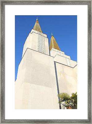 Oakland California Temple . The Church Of Jesus Christ Of Latter-day Saints . 7d11345 Framed Print by Wingsdomain Art and Photography