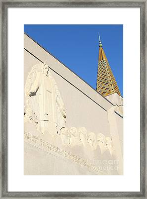 Oakland California Temple . The Church Of Jesus Christ Of Latter-day Saints . 7d11348 Framed Print by Wingsdomain Art and Photography
