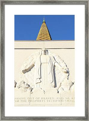 Oakland California Temple . The Church Of Jesus Christ Of Latter-day Saints . 7d11350 Framed Print by Wingsdomain Art and Photography