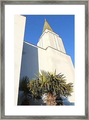 Oakland California Temple . The Church Of Jesus Christ Of Latter-day Saints . 7d11352 Framed Print by Wingsdomain Art and Photography