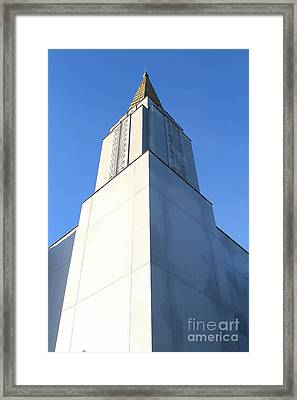 Oakland California Temple . The Church Of Jesus Christ Of Latter-day Saints . 7d11353 Framed Print by Wingsdomain Art and Photography