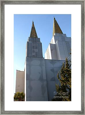 Oakland California Temple . The Church Of Jesus Christ Of Latter-day Saints . 7d11357 Framed Print by Wingsdomain Art and Photography