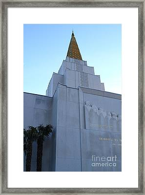 Oakland California Temple . The Church Of Jesus Christ Of Latter-day Saints . 7d11364 Framed Print by Wingsdomain Art and Photography