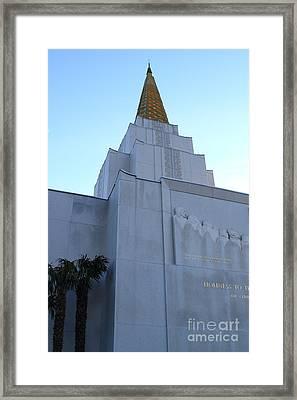 Oakland California Temple . The Church Of Jesus Christ Of Latter-day Saints . 7d11364 Framed Print