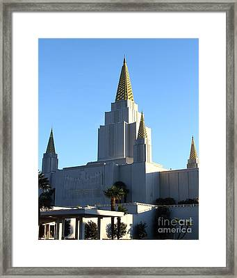 Oakland California Temple . The Church Of Jesus Christ Of Latter-day Saints . 7d11374 Framed Print by Wingsdomain Art and Photography