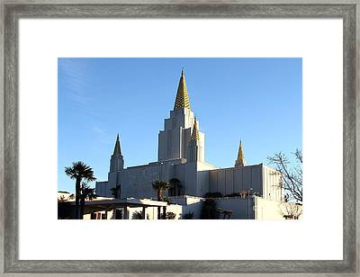 Oakland California Temple . The Church Of Jesus Christ Of Latter-day Saints . 7d11375 Framed Print by Wingsdomain Art and Photography