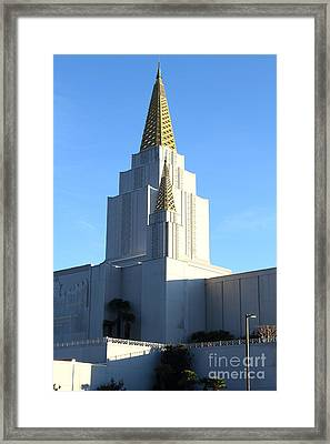 Oakland California Temple . The Church Of Jesus Christ Of Latter-day Saints . 7d11377 Framed Print by Wingsdomain Art and Photography