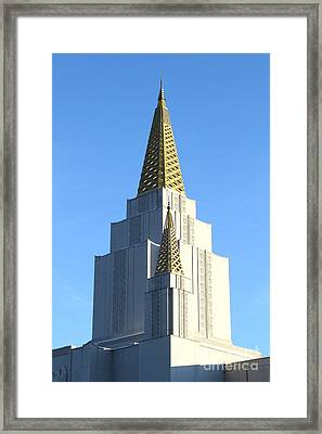 Oakland California Temple . The Church Of Jesus Christ Of Latter-day Saints . 7d11381 Framed Print by Wingsdomain Art and Photography