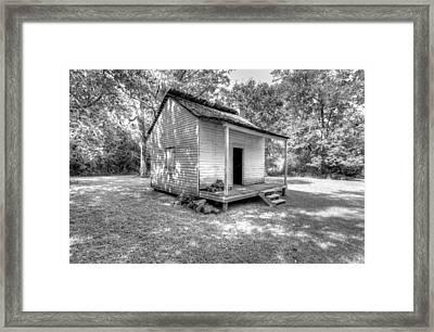Oakley Plantation Slaves Quarters Framed Print by Bourbon  Street