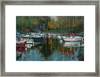 Oakville Harbour On Framed Print by Ylli Haruni