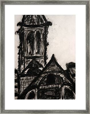 Oakwood Church Front Framed Print by Christophe Ennis