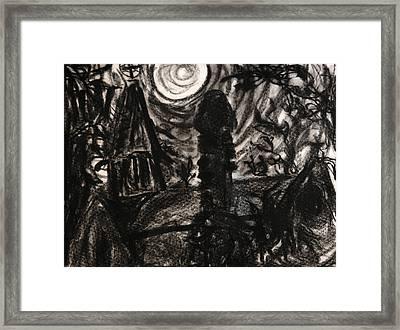 Oakwood Church Rear Framed Print by Christophe Ennis