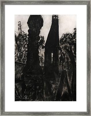 Oakwood Church Towers Framed Print by Christophe Ennis