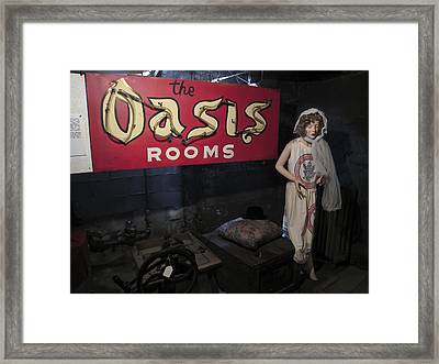 Oasis Bordello Basement - Wallace Idaho Framed Print by Daniel Hagerman