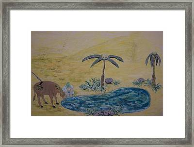 Oasis In The Desert Of My Mind Framed Print by Timothy  Foley