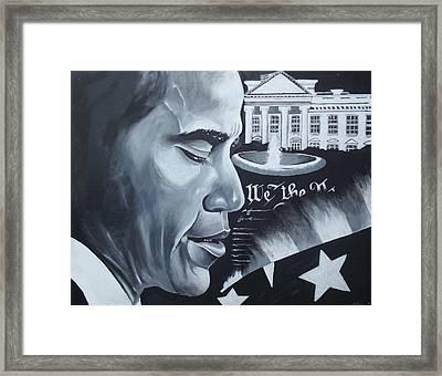 Obama Framed Print by Alonzo Butler