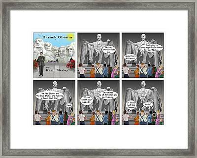 Obama As Lincoln Framed Print